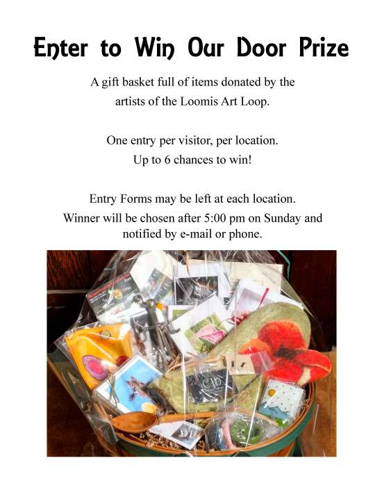 Loomis Loop door prize instructions